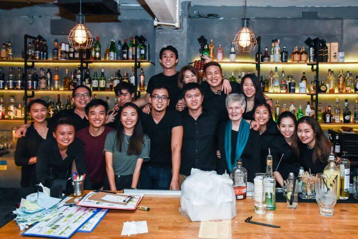 Hopscotch Bar's team for the last shift