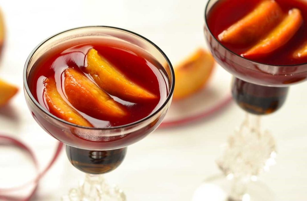 Peach Red Wine